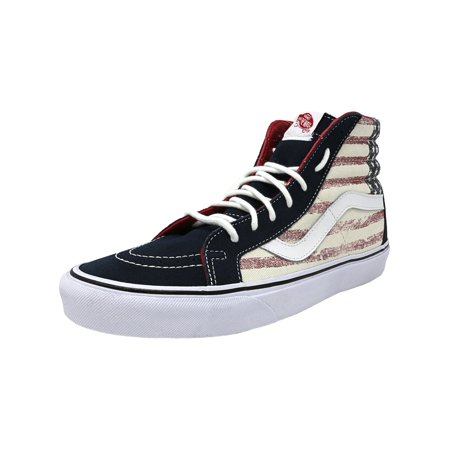 3b9d850decb0c5 Vans - Vans Sk8-Hi Reissue Americana Dress Blues High-Top Canvas  Skateboarding Shoe - 8.5M   7M - Walmart.com