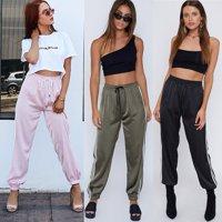 Summer Women Sexy Pants High Waist Stretch Slim Pencil Casual Long Trousers Sz S-XL