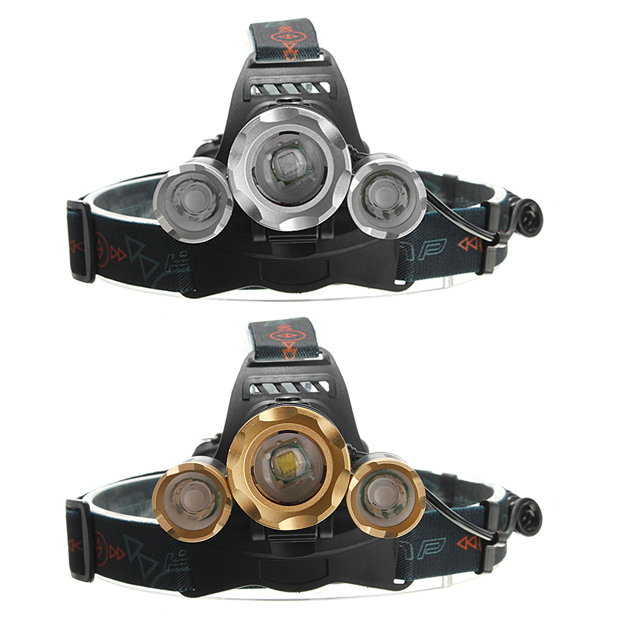 6000Lm 3xT6 Camping &amp LED Aluminum Zoomable Rechargeable Headlamp Headlight Flashlight Torch Waterproof For Hiking Camping Fishing