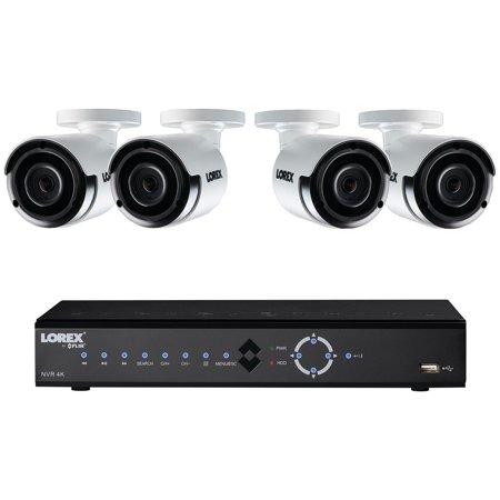 Lorex LNK71082TC4B 8-Channel, 4-Camera Indoor/Outdoor Wired 2K 2TB DVR Surveillance System