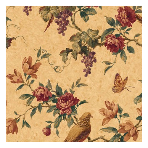 4 Walls Lodge D cor Pheasant Trail 33' x 20.5'' Floral and Botanical Wallpaper