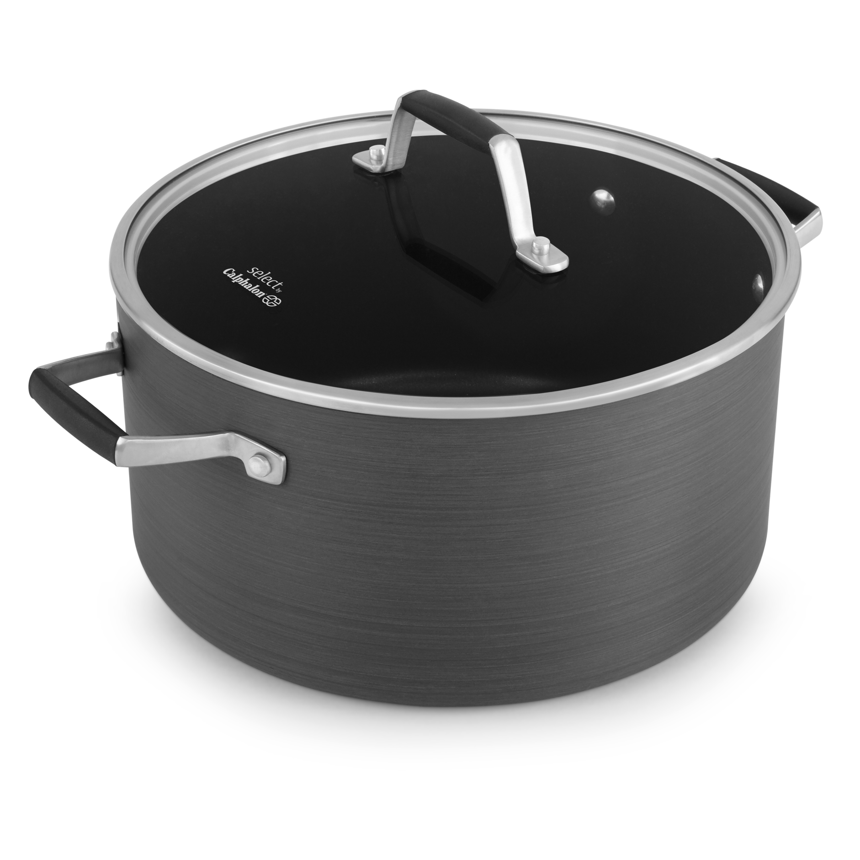 Calphalon Select Hard Anodized 8 Quart Non-Stick Stock Pot with Cover, 1 Each