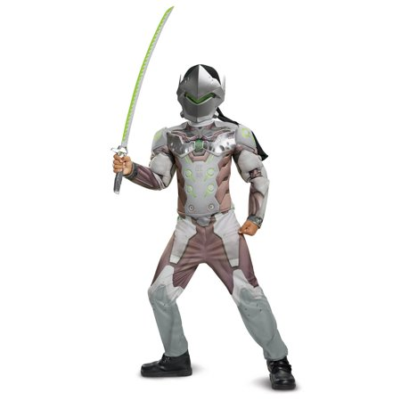 Holloween Costumes For Teens (Overwatch Genji Classic Muscle Teen Halloween)