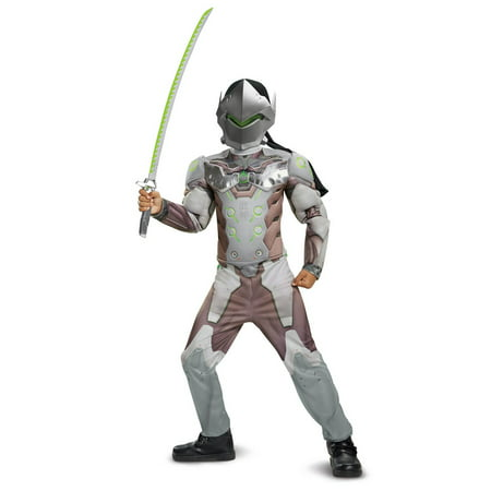 Overwatch Genji Classic Muscle Teen Halloween Costume](Fantasias Bruxas Halloween)