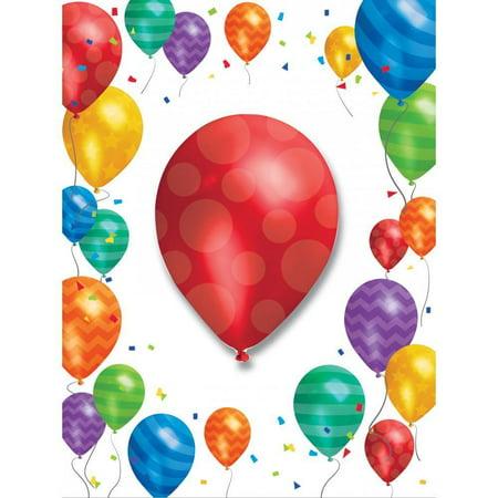 Balloon Invitations (Creative Converting Balloon Blast Invitation W/Att, 8)