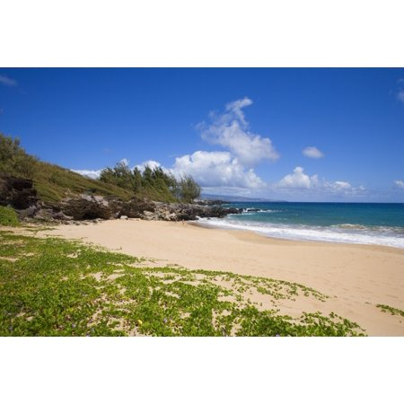 Hawaii Maui Kapalua Fleming Beach Empty White Sand Posterprint
