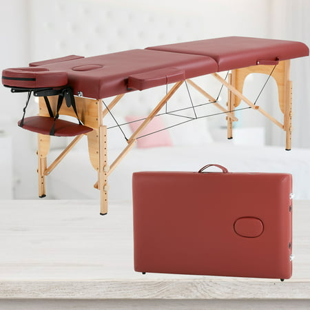 """Massage Table Massage Bed Spa Bed 73"""" Long Portable 2 Folding W/ Carry Case Table Heigh Adjustable Salon Bed Face Cradle Bed ()"""