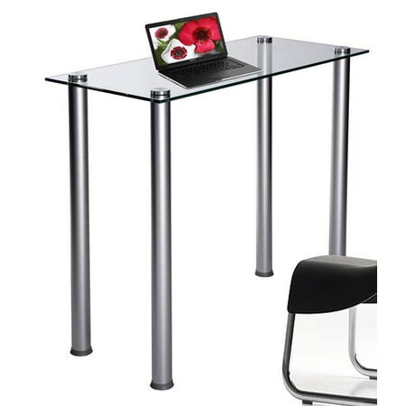 Laptop Desk w Glass Top and Chromed Legs
