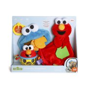 Bright Starts Sesame Street Friendly Monsters Cookie Monster and Elmo 3 Piece Gift Set, Ages Newborn +