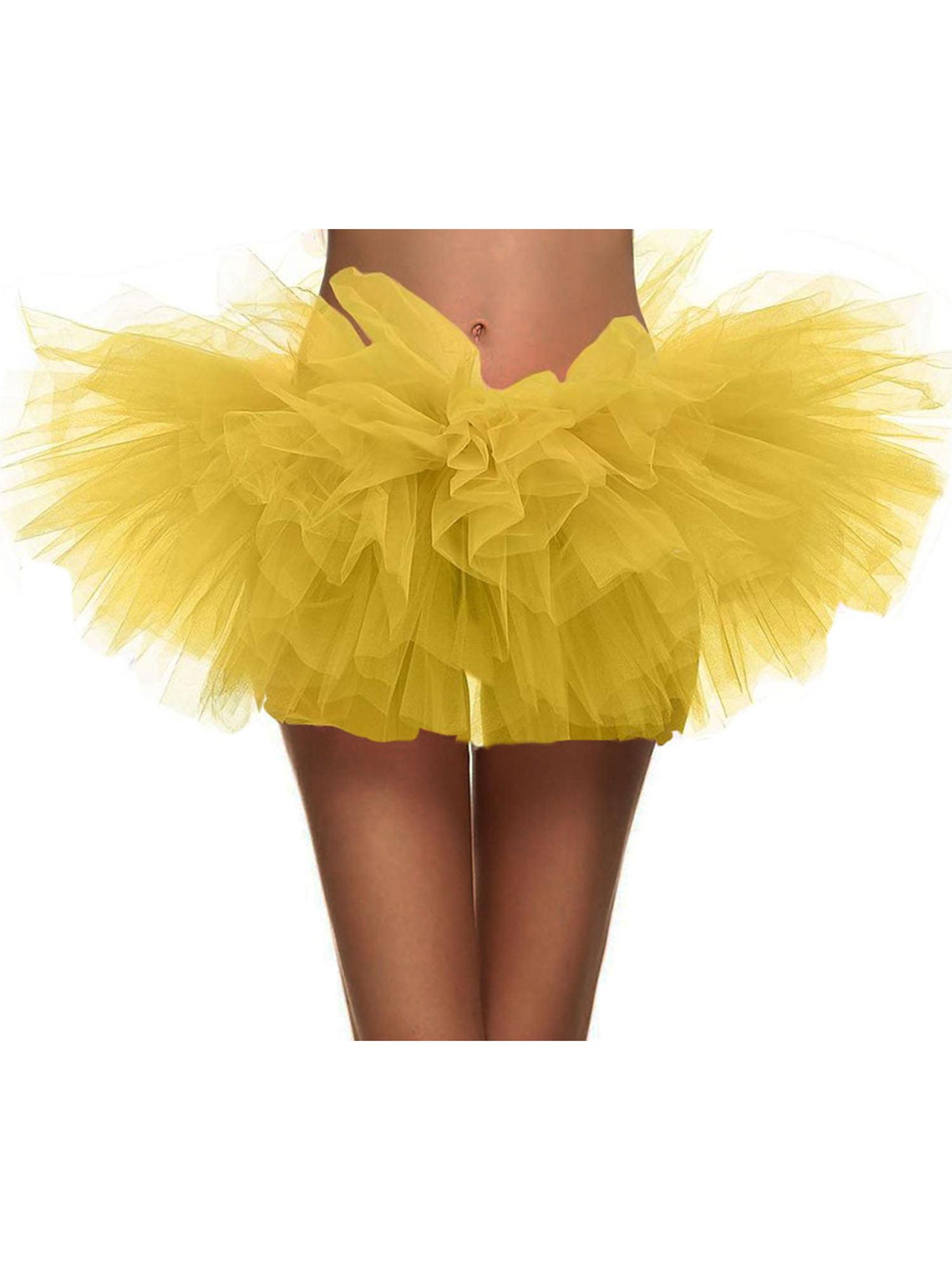 Womens Retro 5 Layers Tulle Cosplay Costume Dance Tutu Skirt