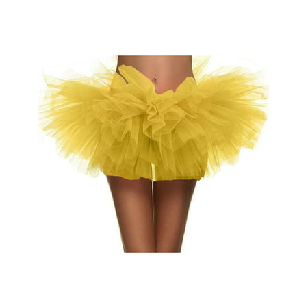 Women's Vintage 5-layered Run Walk Little Princess Dash Event Tutu Skirt, - Cheech Tutu