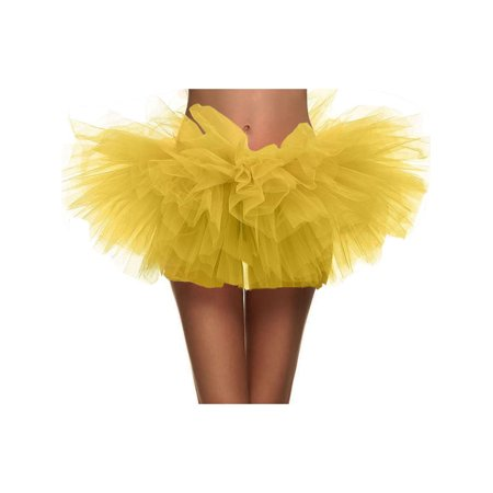 5 Layers Organza Ballet Tutu Bustle Costume Dance Ballerina Skirt, - Bustle Tutu