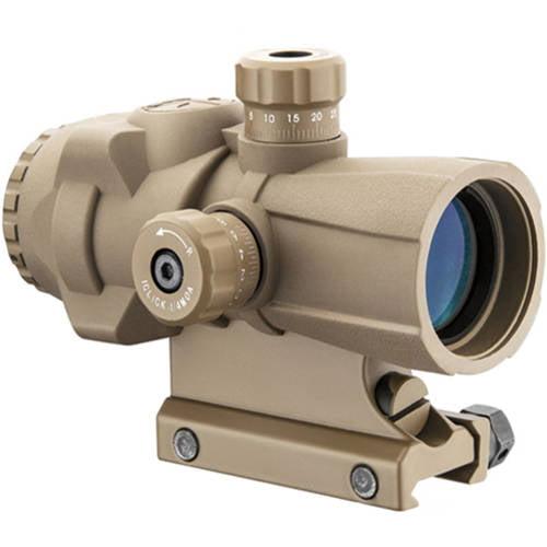 Barska Optics AR-X Pro Prism Scope 3x30mm, Illuminated Cross Dot Reticle, Tan