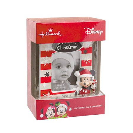 hallmark disney mickey mouse babys first christmas 2017 picture frame christmas ornament