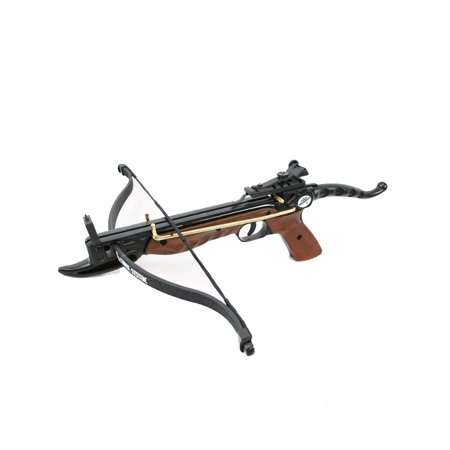 Crossbow Silencer System - SAS Prophecy 80 Pound Pistol Crossbow Wood Aluminum Body with Cobra System Limb and 3 Arrows