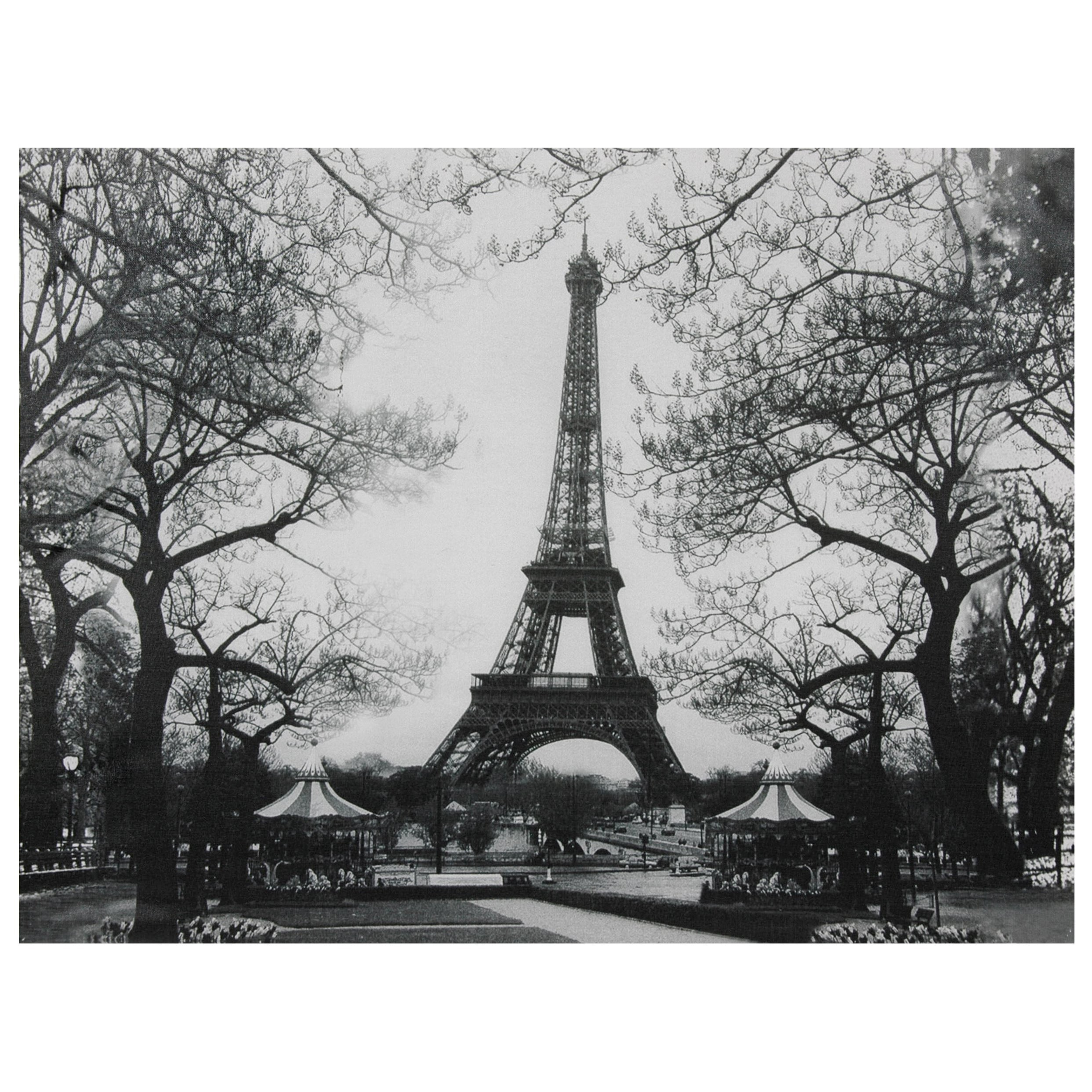 Oriental Home Eiffel Tower Park Canvas Wall Art