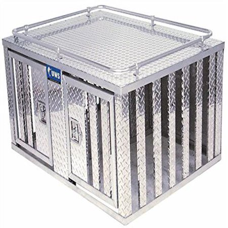 UWS/United Welding Services DB-4848 UWSDB-4848 TWO DOOR DIAMOND PLATE ALUMINUM SOUTHERN DOG BOX (48X48 BASE 24INTALL)