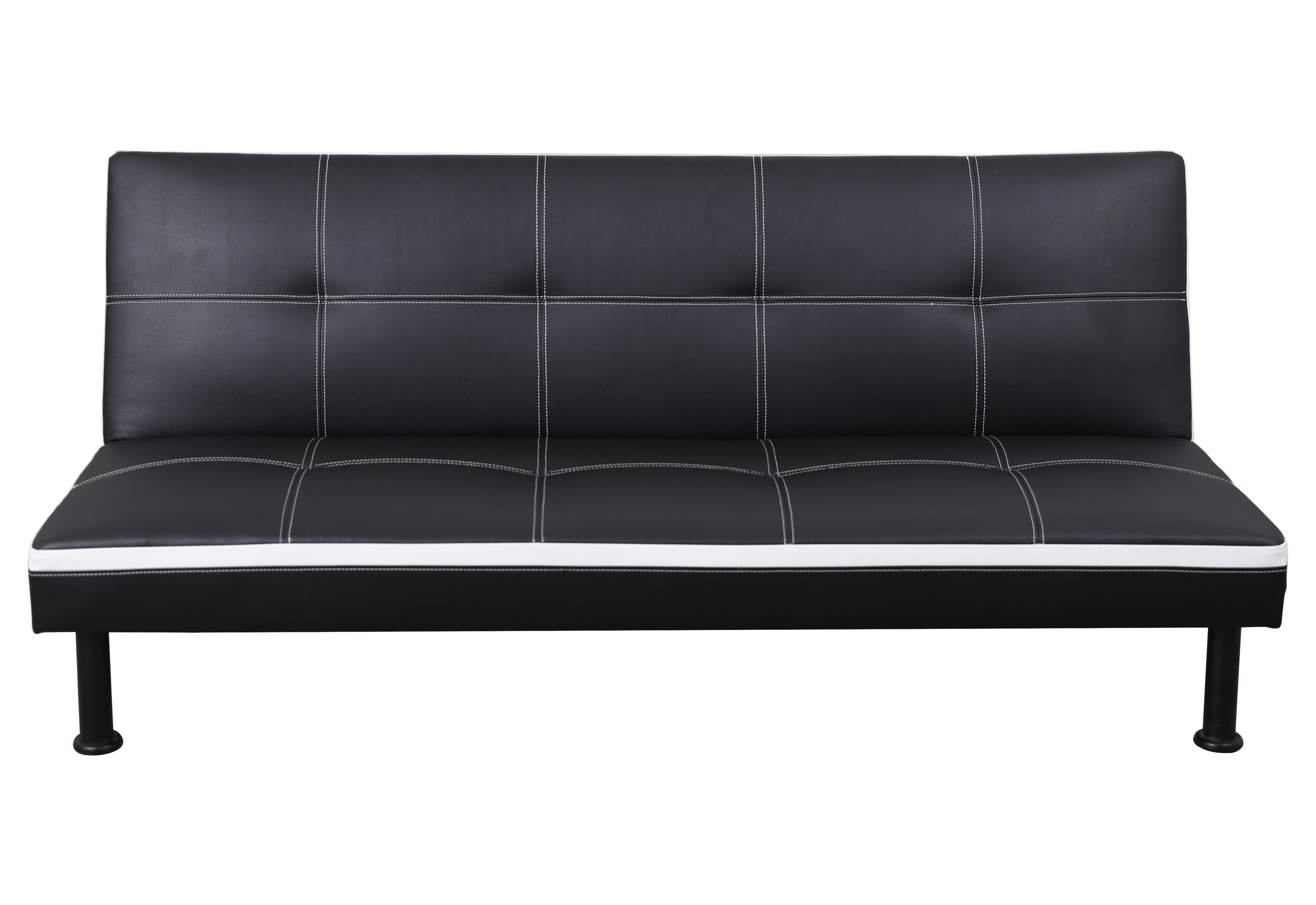 AYCP Furniture Convertible Sofa Futon Couch Bed, Faux Leather ...