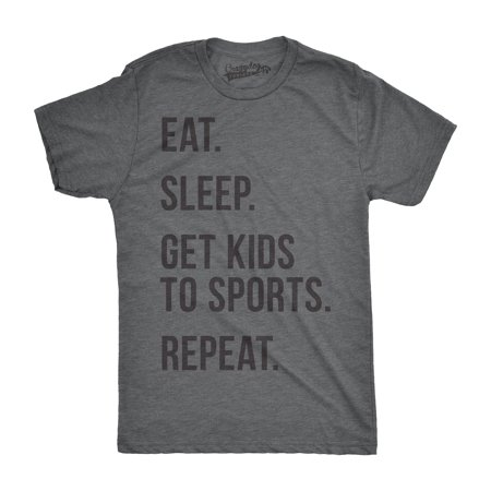 Mens Eat Sleep Get Kids To Sports Funny T shirts for Moms Dads Novelty Gift Idea T - Mom Dad Eat All Halloween Candy