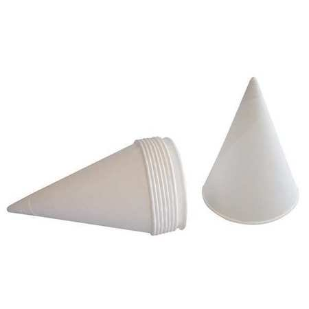 Disp. Cone Cup,4-1/4 oz.,White,PK200 25K814 - Construction Cone Cups