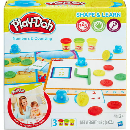 Play-Doh Shape & Learn Numbers & Counting Set with 3 Cans of Play-Doh - Ninja Turtle Play Doh