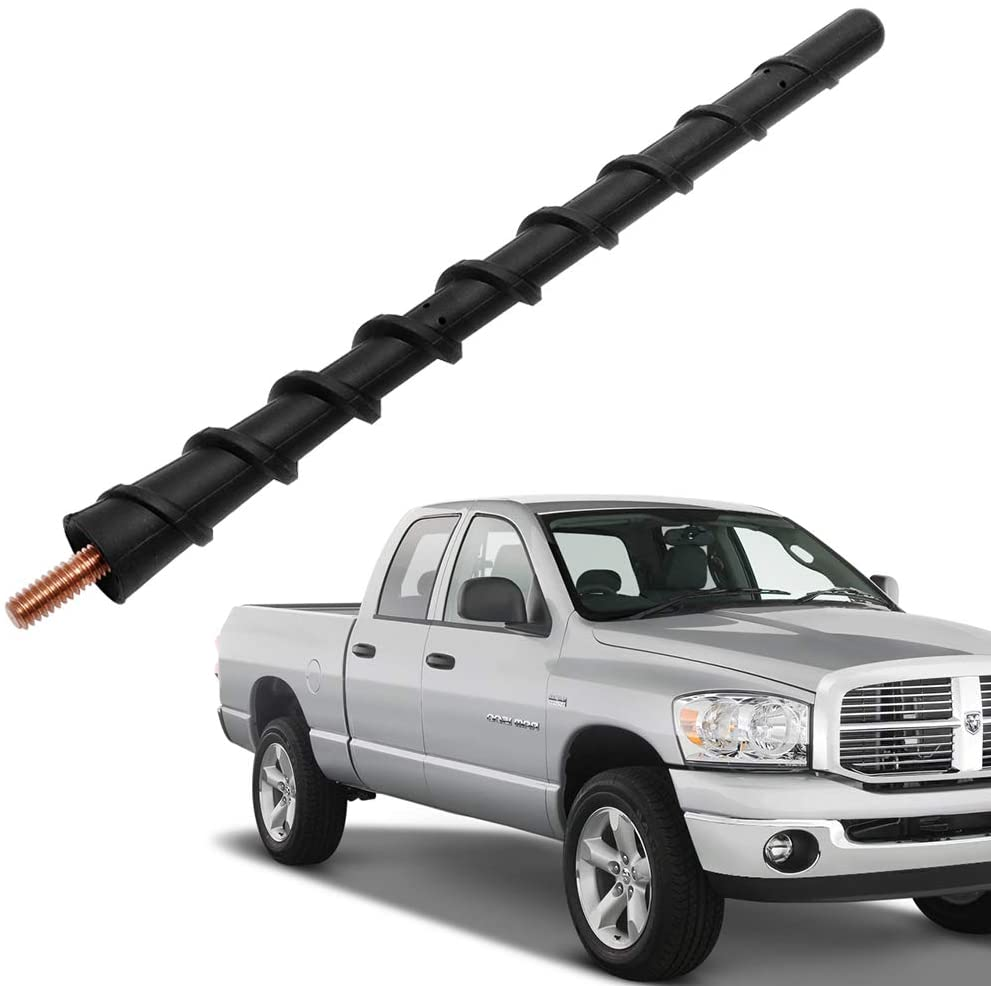 Designed for Optimized Fm//Am Reception Flexible Rubber Replacement Mast Compatible with Ford F150 /& Dodge Ram 1500 VOFONO 11 Inch Rubber Antenna Fits for Ford F150 /& Dodge Ram 1500 2009-2020