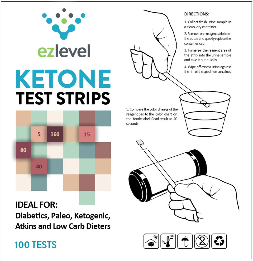 Ez Level Ketone Test Strips For Diabetics Paleo Ketogenic Low Carb