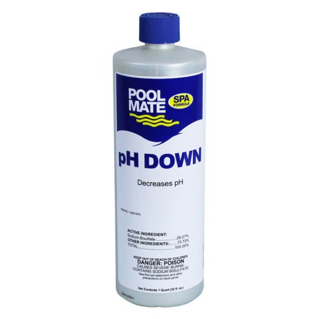 Spa Down Ph Reducer - Pool Mate 1 qt. pH Down for Swimming Pools