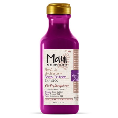 Maui Moisture Heal & Hydrate + Shea Butter, Shampoo, 13 FL (Best Hair Extensions Shampoo To Use)