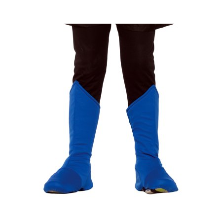 Superhero Boot Covers Child Costume Accessory Blue 76590 - Blue Superhero Costume