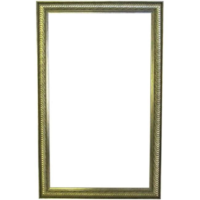 Alpine Fine Furniture 78619 Wave Collection 26 x 41 in. Etched Silver 2.5 in. Framed Wall Mirror