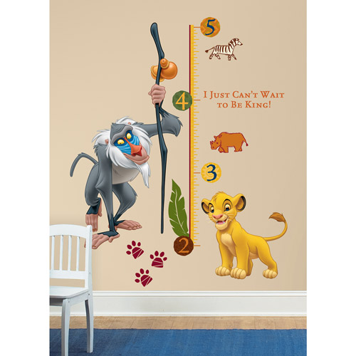 RoomMates The Lion King Rafiki Peel & Stick Giant Growth Chart