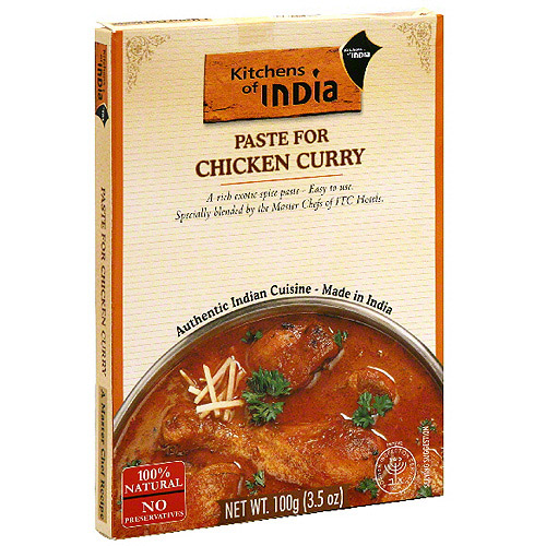 Kitchens Of India Curry Paste For Chicken, 3.5 oz (Pack of 6)