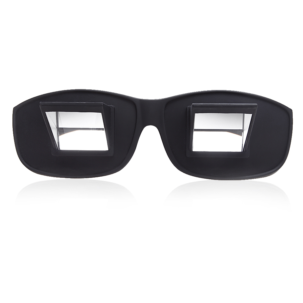 8c360cd65496 Prism Eye Glasses Periscope Eyeglasses Horizontal Spectacles Lazy Specs  High Definition for Lying Down Bed in Watching TV Reading Book in Black -  Walmart. ...