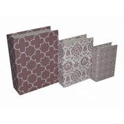 Cheungs 3 Piece Book Box with Mixed Prints