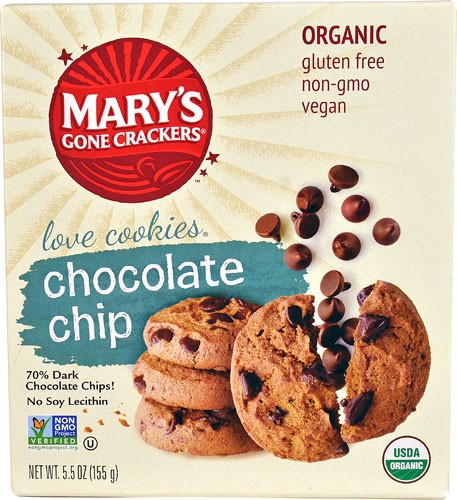Mary's Gone Crackers Love Cookies Chocolate Chip 5.5 oz - Vegan