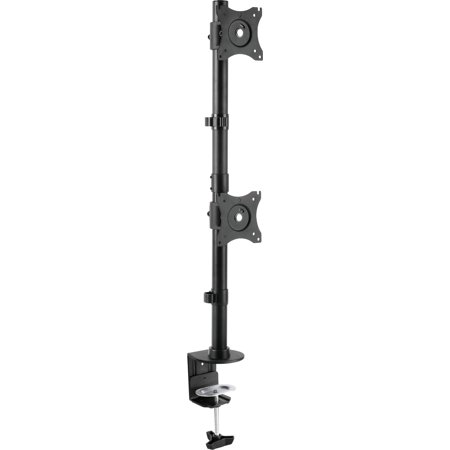 VIVO Dual Computer Monitor Desk Mount Stand Vertical Arrary for 2 Screens up to 27