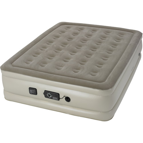 mattress queen walmart instabed raised air bed with neverflat ac pump queen
