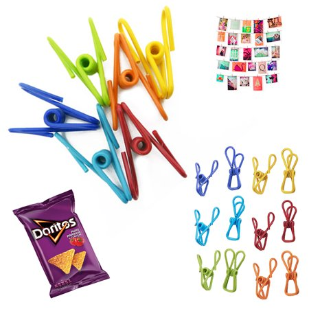 (36X Multi Purpose Clips Colored Kitchen Holder Metal Food Sealing Bag Snack Chip)