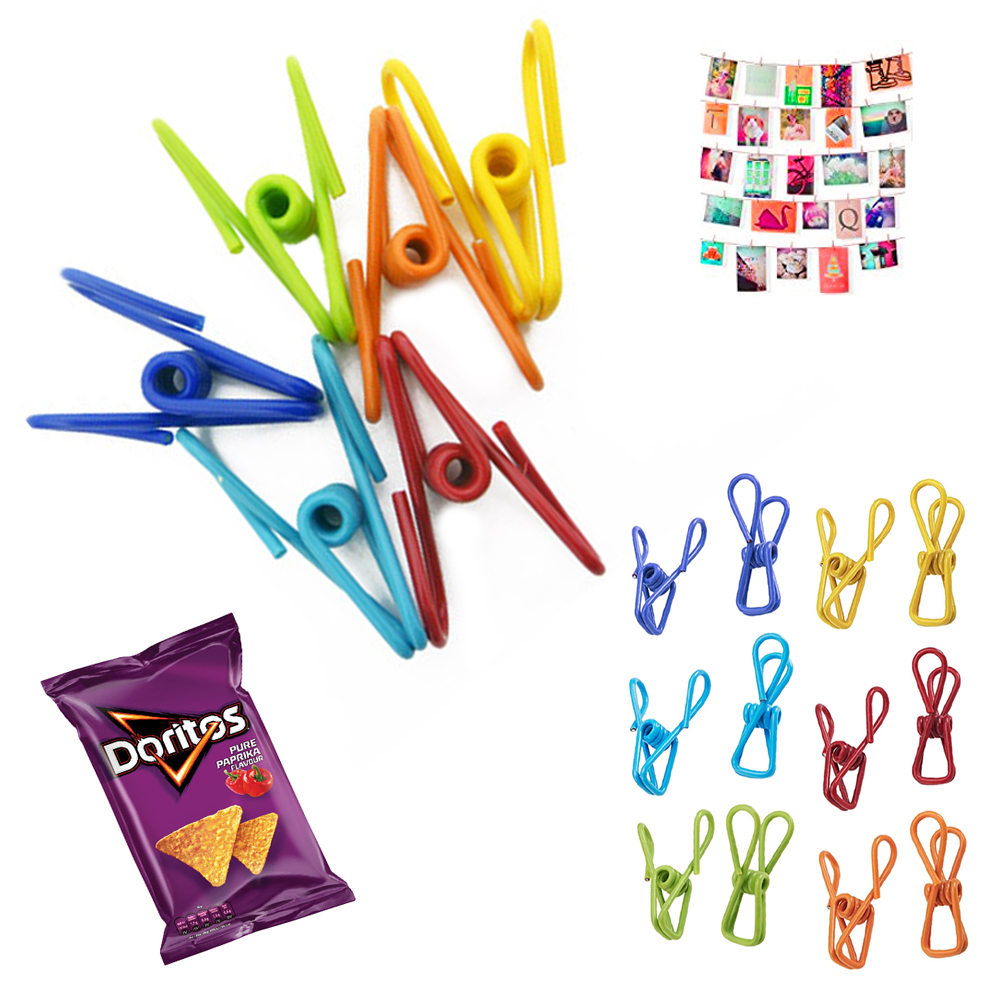 36X Multi Purpose Clips Colored Kitchen Holder Metal Food Sealing Bag Snack Chip
