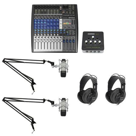Podcast Studio Bundle w/Presonus Mixer+(2) Samson