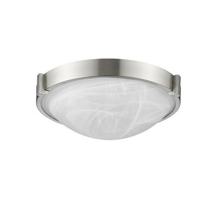 CHLOE Lighting SMITH Transitional 2 Light Bushed Nickel Flushmount Ceiling Fixture 13