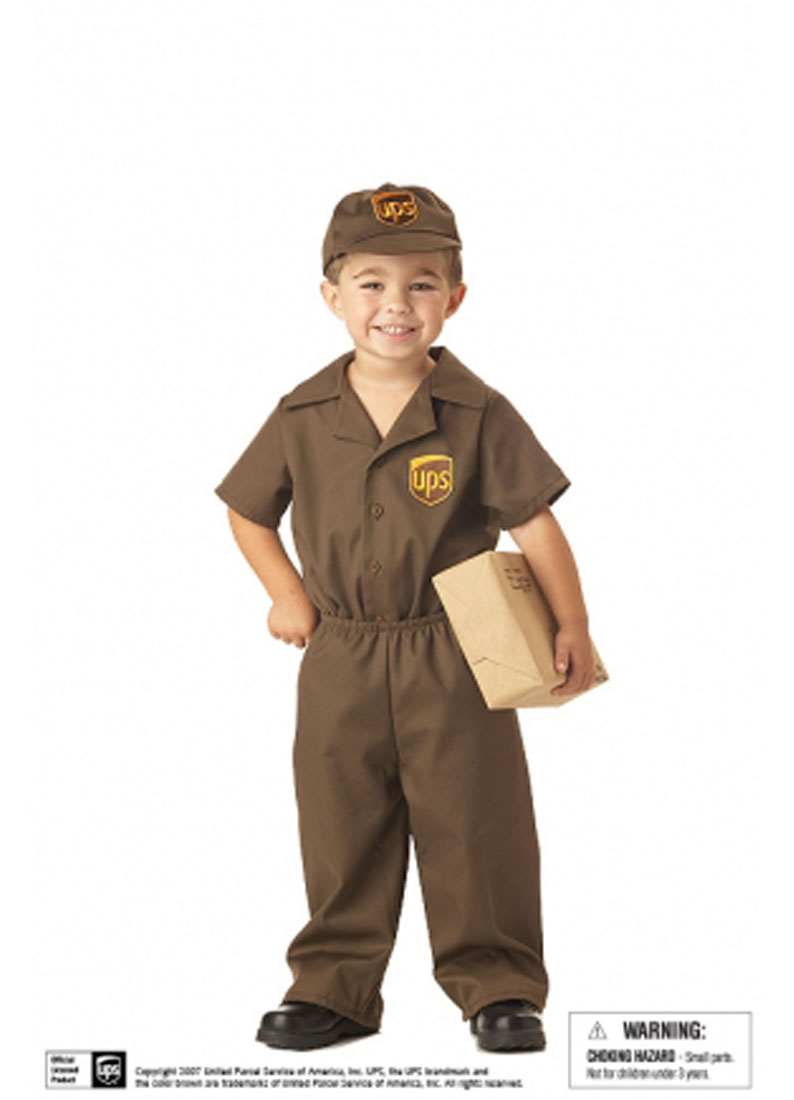 the ups guy boys' toddler halloween costume - walmart