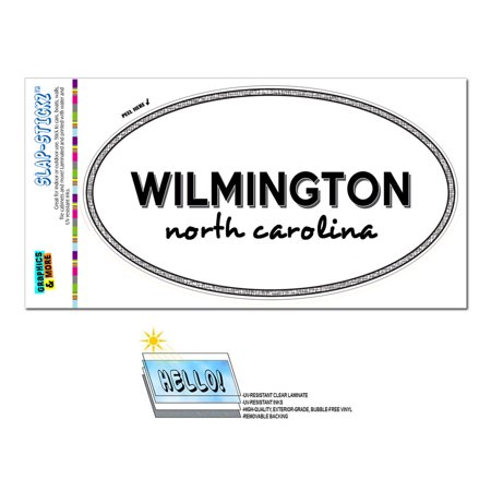 Halloween Store In Wilmington Nc (Wilmington, NC - North Carolina - Black and White - City State - Oval Laminated)