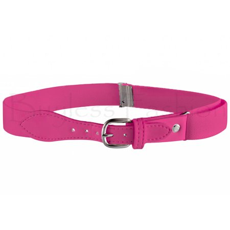 (Buyless Fashion Kids Elastic Adjustable Strech Belt with Leather Closure (Available in 21 Colors) - Fushia)