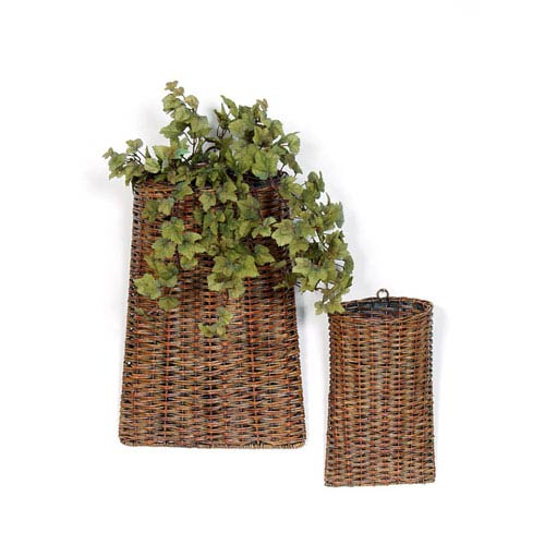 "Baskets (Set Of 2) 12""H, 18""H Rattan (Pack Of 2) Pack Of 2 Pcs"