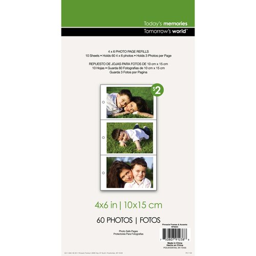 Pinnacle Frames and Accents 3-Up Photo Refill Page