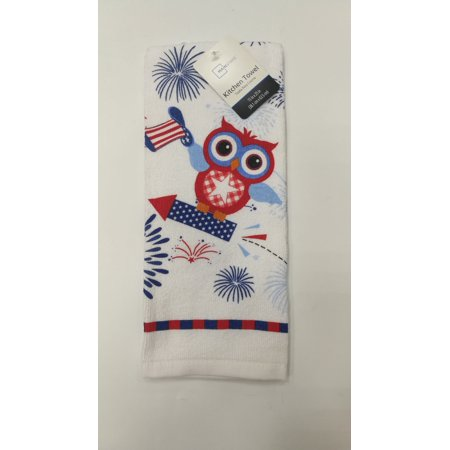 Mainstays Owl 1 Pigment Printed Kitchen Towel