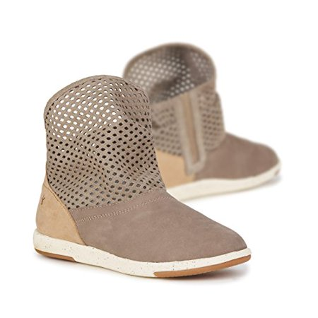 EMU Australia Womens Flat Shoes Numeralla Cow Leather in Mushroom / Natural