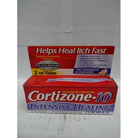 Cortizone 10 Maximum Strength Intensive Healing Formula 1  Hydrocortisone Anti Itch Cr Me  2Oz